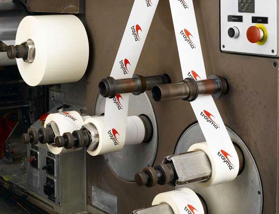 Adhesive tape printing production