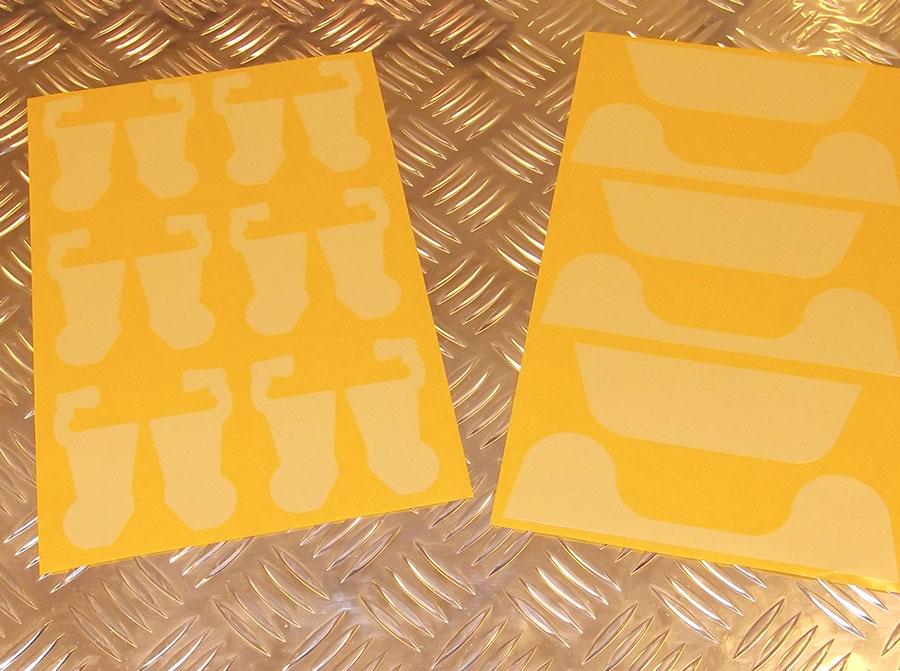 Die-cut masking tape